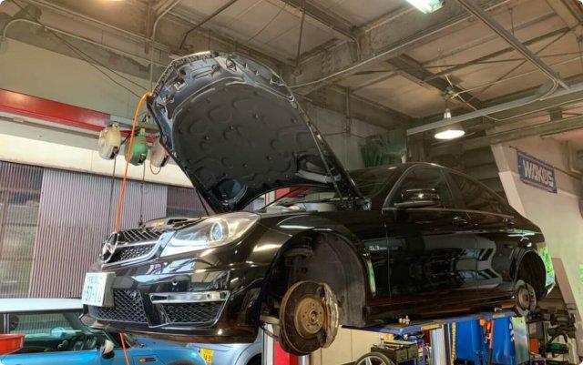 メルセデスベンツ(C63AMG W204)の車検整備について