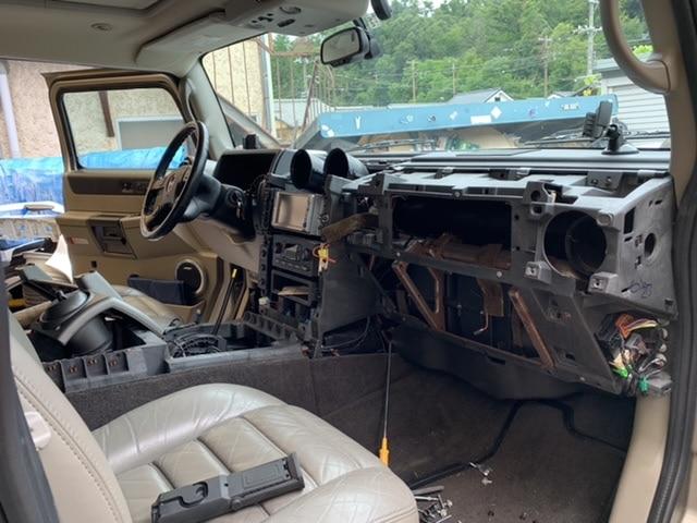 ハマー H2 エアコン修理 モーター交換(並行輸入車)
